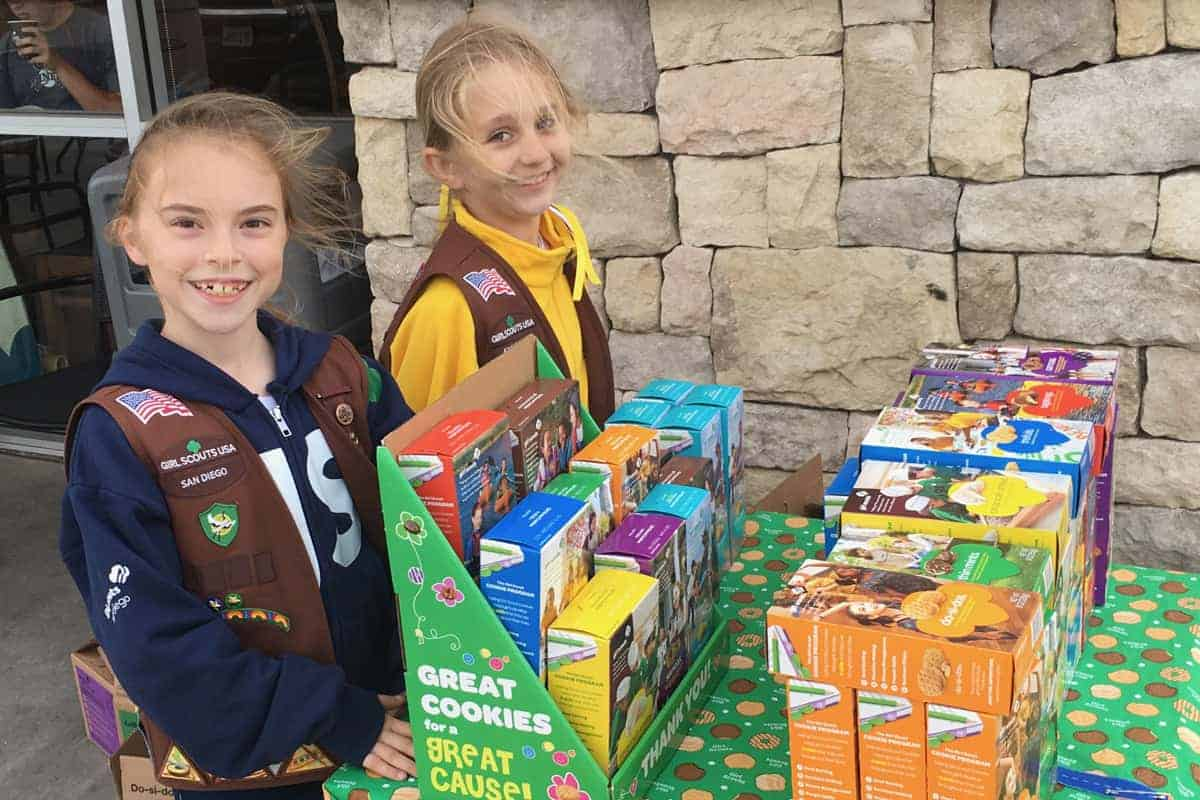 Girl Scout Cookie booth time
