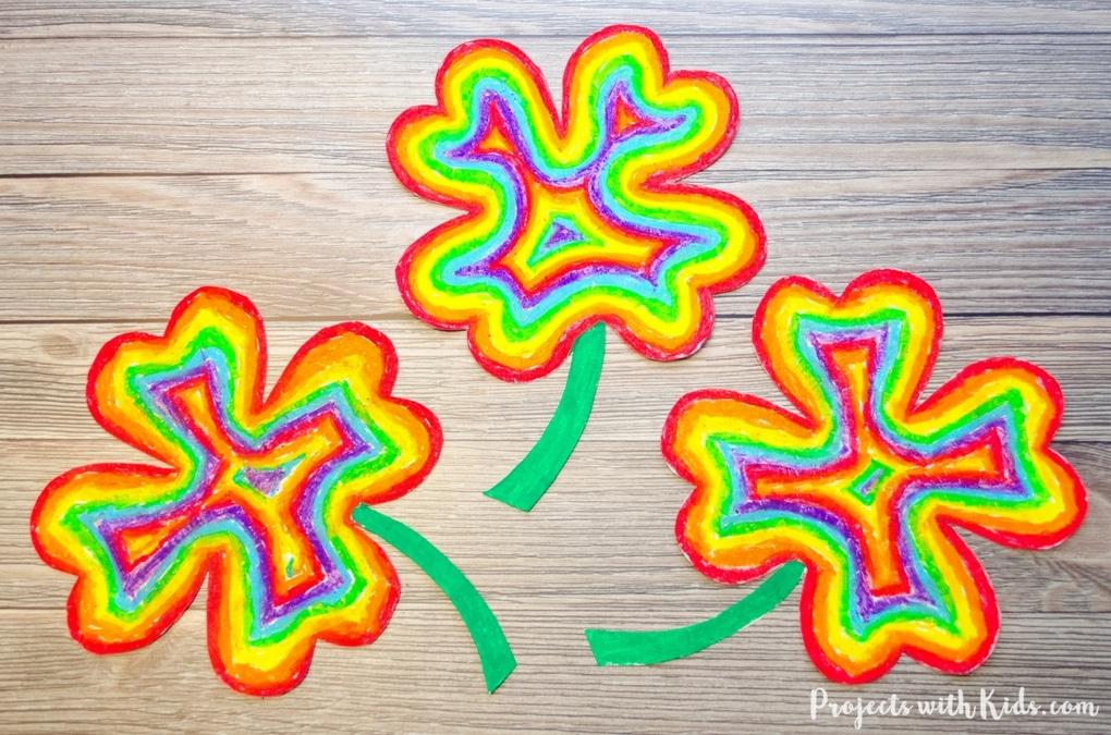 rainbow shamrocks