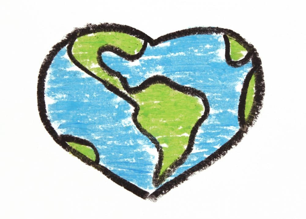earth in the shape of a heart